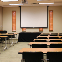 Room 320 shown here in the Classroom setup