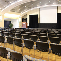 Ballroom shown here in Lecture setup