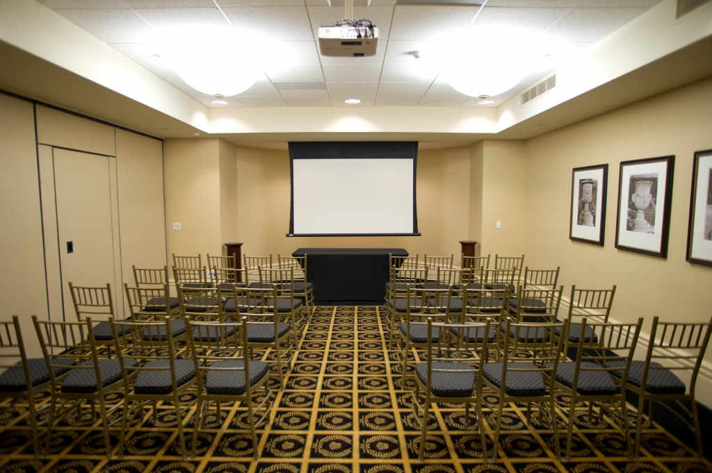 The Academy features rooms in a variety of sizes and setups. Each room can accommodate large-scale events or presentations as well as more close-knit gatherings or breakout sessions.
