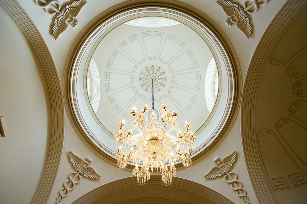 Gorgeous chandelier looms over the gorgeous Rotunda!