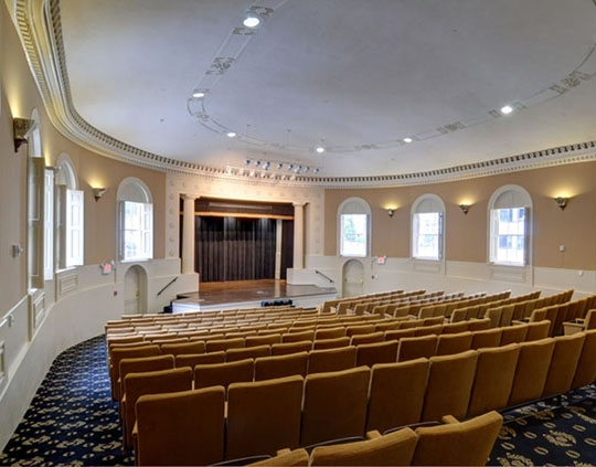 With more than 200 stadium-style seats, the Theater gives each guest an ideal view for performances, weddings, and presentations.